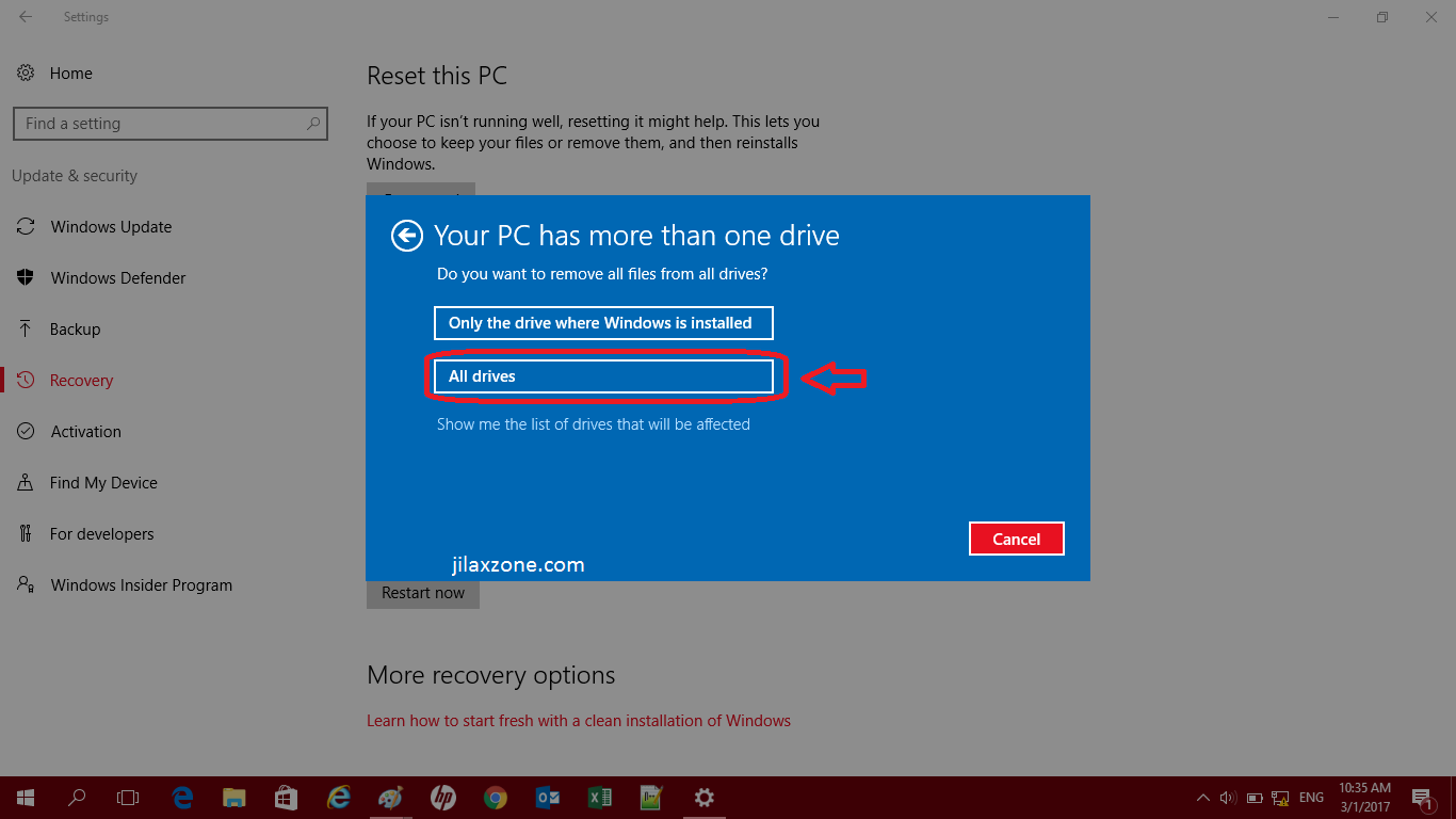 how to set windows 7 back to factory settings