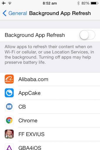 Speed Up Old iPhone Tweak jilaxzone.com Turn Off Background App Refresh