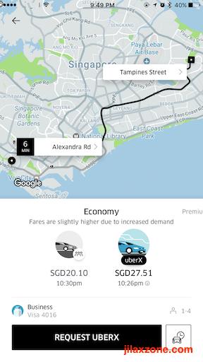 SG Tourists Must Have App jilaxzone.com Uber