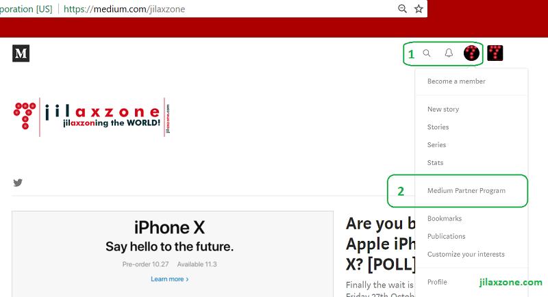 Join Medium Partner Program jilaxzone.com