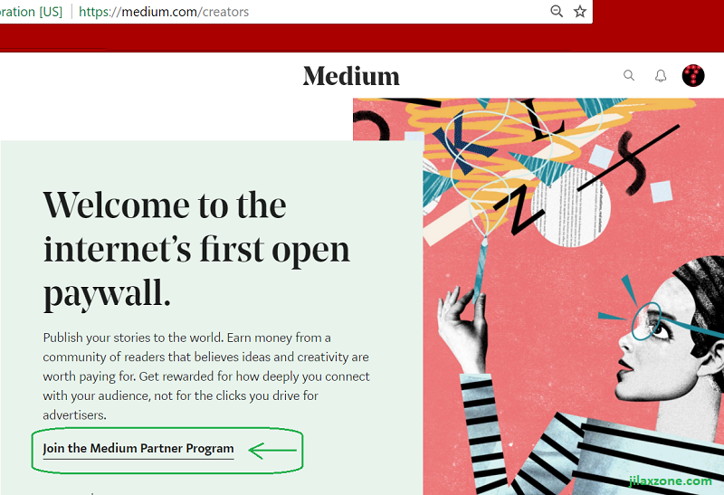 Join medium partner program jilaxzone.com Creators page