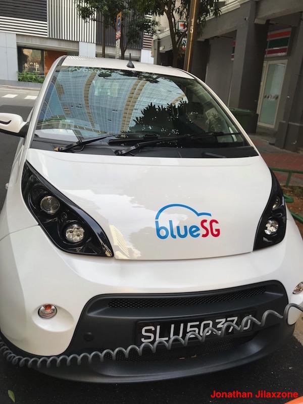 BlueSG Electric Car SG jilaxzone.com Car Side Look