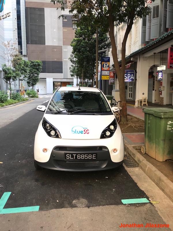 BlueSG Electric Car SG jilaxzone.com Car front look