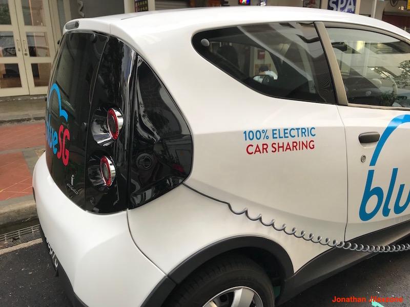 BlueSG Electric Car SG jilaxzone.com Car in Charging mode 2
