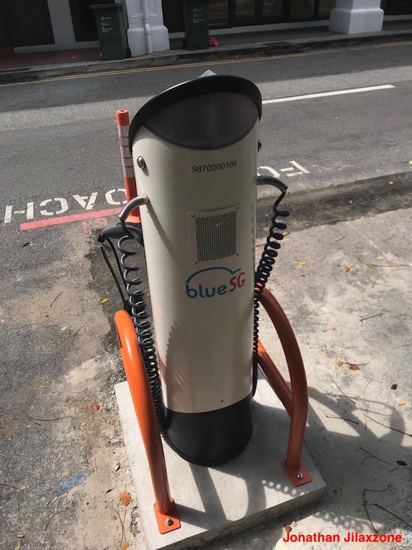 BlueSG Electric Car SG jilaxzone.com Charging Stations Back view