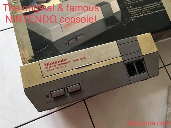 Nintendo NES Jilaxzone.com Nintendo box and the NES console