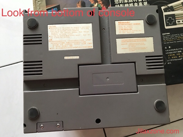 Nintendo NES Jilaxzone.com Bottom console view