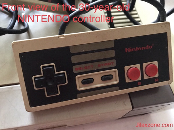 Nintendo NES Jilaxzone.com Nintendo original controller front look