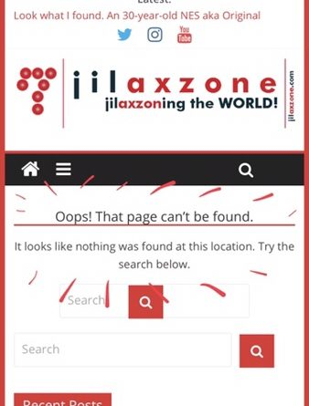 Twitter t.co redirect to 404 page Jilaxzone.com
