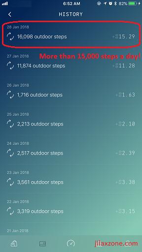 Sweatcoin jilaxzone.com Reach more than 15k steps a day