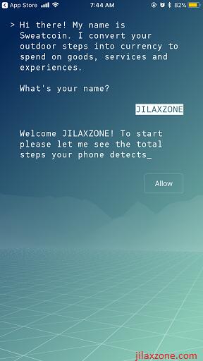 Sweatcoin jilaxzone.com register username