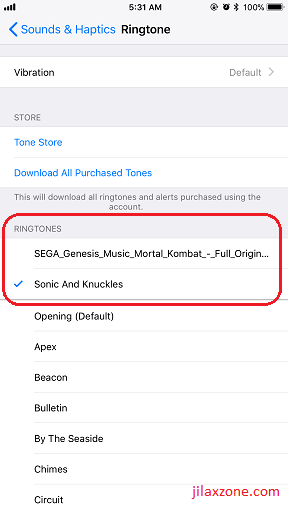 create custom iPhone Ringtone jilaxzone.com select custom ringtone