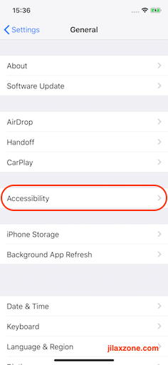 iPhone X Tap to Wake jilaxzone.com settings general accessibility