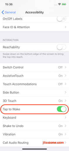 iPhone X Tap to Wake jilaxzone.com turn OFF tap to wake