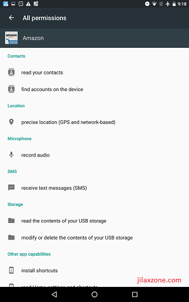 Android Secure Your Data and Privacy jilaxzone.com All Permissions