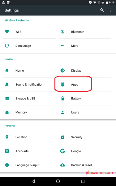 Android Secure Your Data and Privacy jilaxzone.com Settings Apps