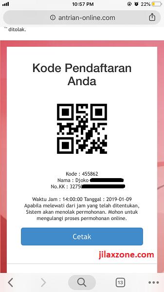 Antrian Paspor Bekasi Contoh Kode Antrian jilaxzone.com