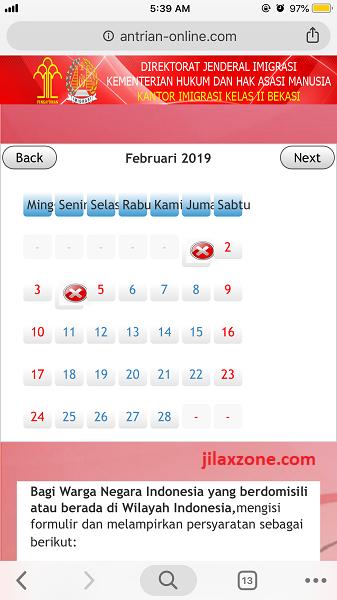 Antrian Paspor Bekasi Pilih Tanggal dan hari jilaxzone.com