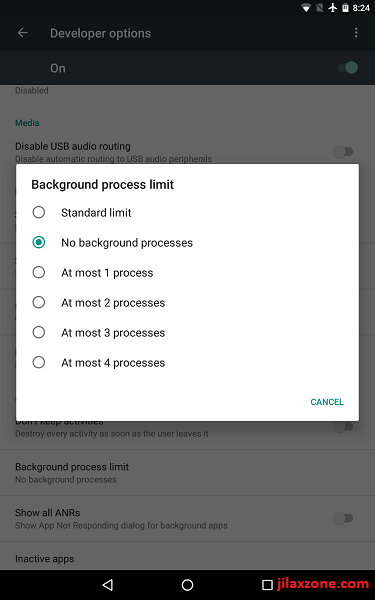 Android Speed Up No Background Processes