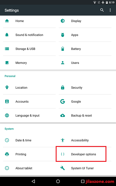 Android Speed up Settings Developer Options