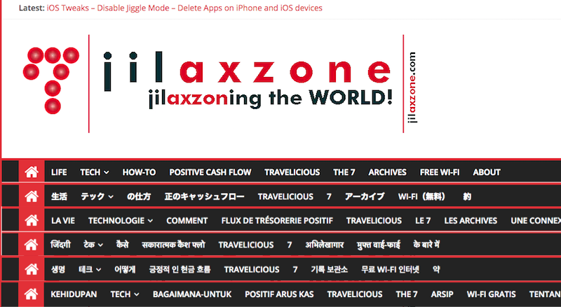 enable website in different languages jilaxzone.com