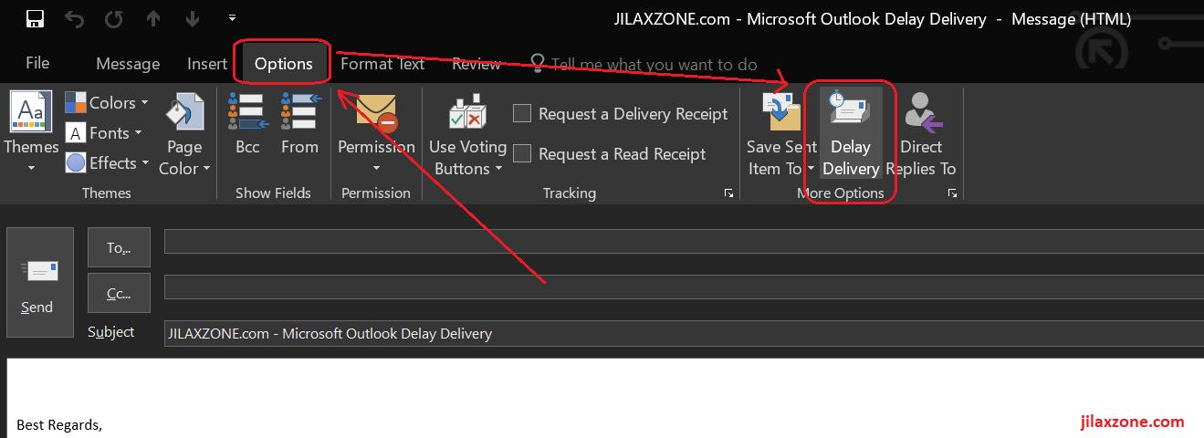 Microsoft Outlook Delay Delivery jilaxzone.com
