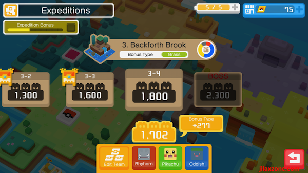 Pokemon Quest Get Bonus Type