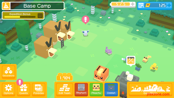 Pokemon Quest Get new Pokemon every 22 hours at basecamp jilaxzone.com