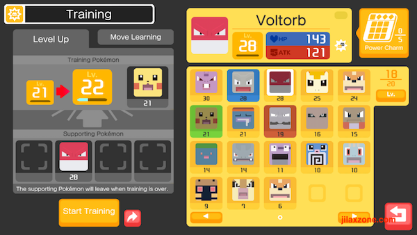 Pokemon Quest Level Up easily via training jilaxzone.com