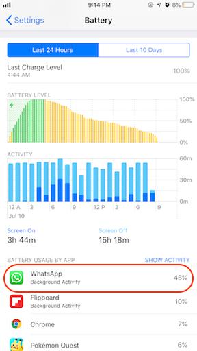 WhatsApp Battery Drainer