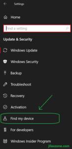 windows find my device menu jilaxzone.com