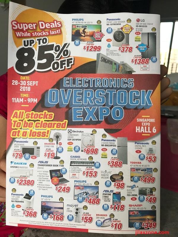 Singapore Electronic Overstock Expo 2018 Jilaxzone