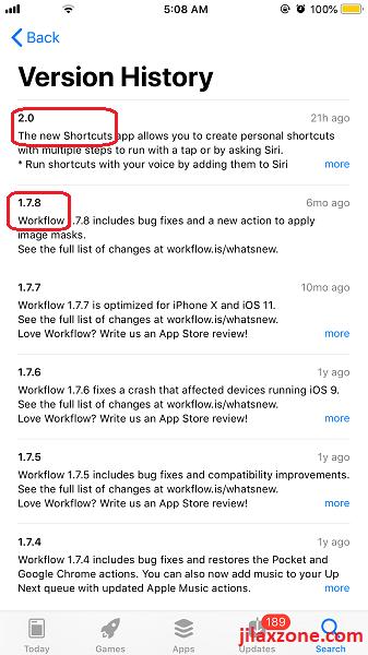 Siri Shortcuts is workflow app jilaxzone.com