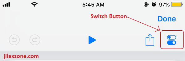 Siri Shortcuts switch button jilaxzone.com