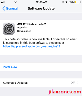 Download iOS 12.1 Public Beta 2 jilaxzone.com