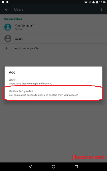 Android lock app without any lock jilaxzone.com Restricted profile