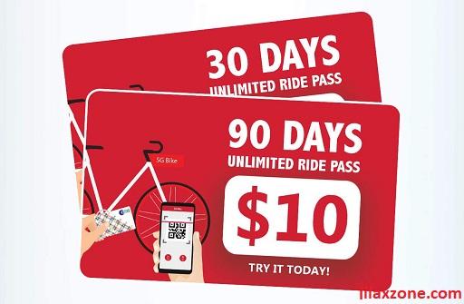 Cheapest Bike Sharing Singapore SG Bike promo jilaxzone.com