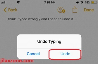 iphone how to undo typing jilaxzone