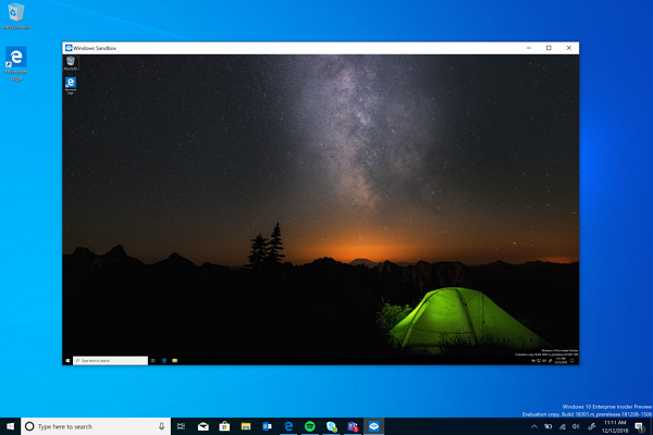 Windows Sandbox on Windows 10 jilaxzone.com