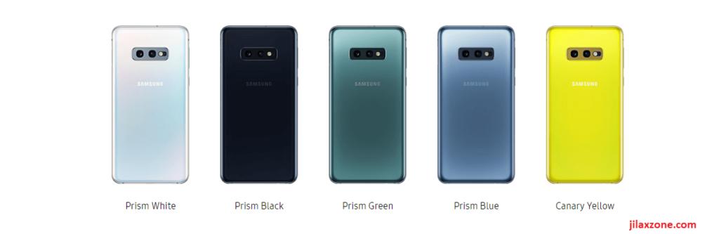 Samsung Galaxy S10 colors jilaxzone.com