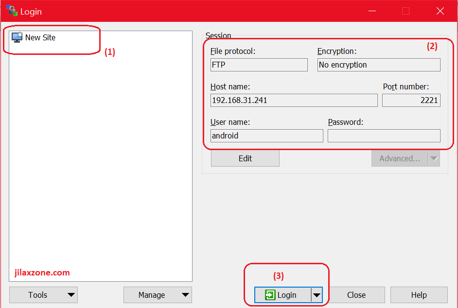 Setup WinSCP for file transfer jilaxzone.com
