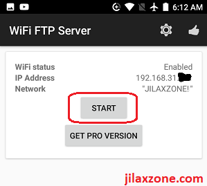 WiFi FTP Server app for Android jilaxzone.com