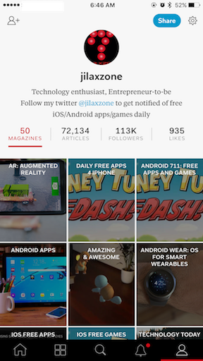 Flipboard jilaxzone.com profile and followers