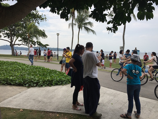 Pokemon Go jilaxzone.com Pokemon craze in Singapore Changi Beach