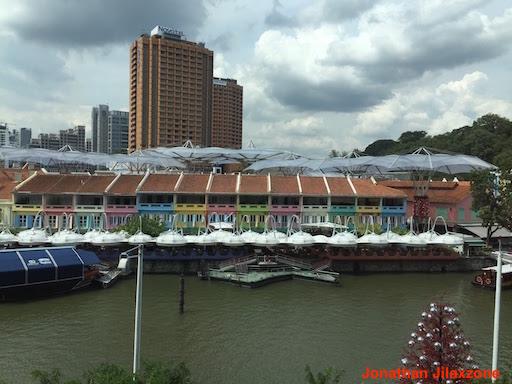 Must Visit Place in Singapore jilaxzone.com Clark Quay Colorful Shophouses View