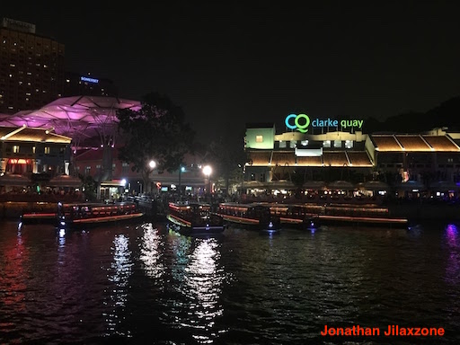 Must Visit Place in Singapore jilaxzone.com Clark Quay View during Night