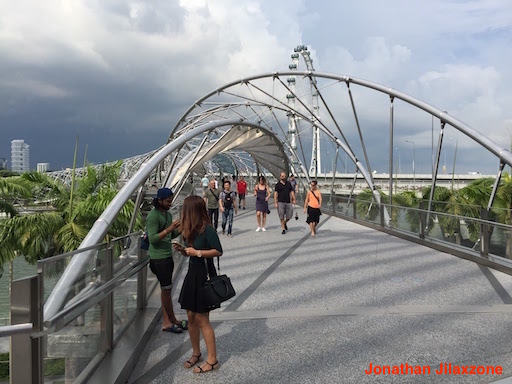 Must Visit Place in Singapore jilaxzone.com Helix Bridge Marina Bay