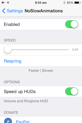 Speed Up Old iPhone Tweak jilaxzone.com Jailbreak Tweak NoSlowAnimations