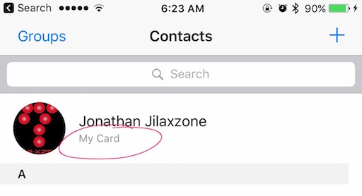 Use Siri To Get Info jilaxzone.com Contacts app My Card