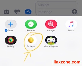 Download and Use iMessage Sticker jilaxzone.com choose the sticker pack